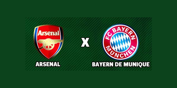 ao vivo Arsenal x Bayern de Munique – Liga dos Campeões ao vivo